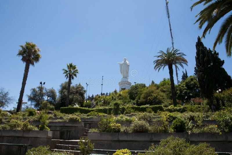 Fristad på San Cristobal Hill - Santiago - Chile royaltyfri foto