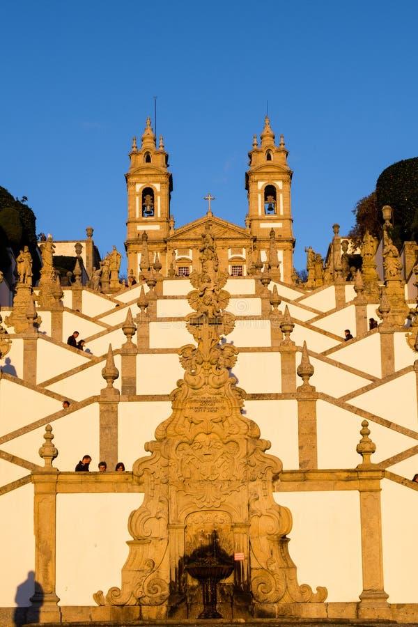 Fristaden av Bom Jesus gör Monte de Braga arkivfoton