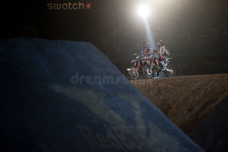 Fristilmotocross arkivbilder