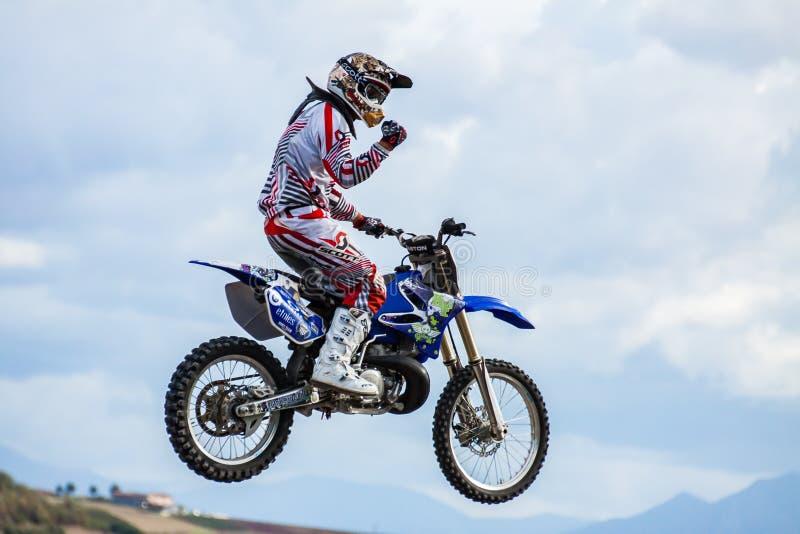 Fristilmotocrossshow royaltyfri foto