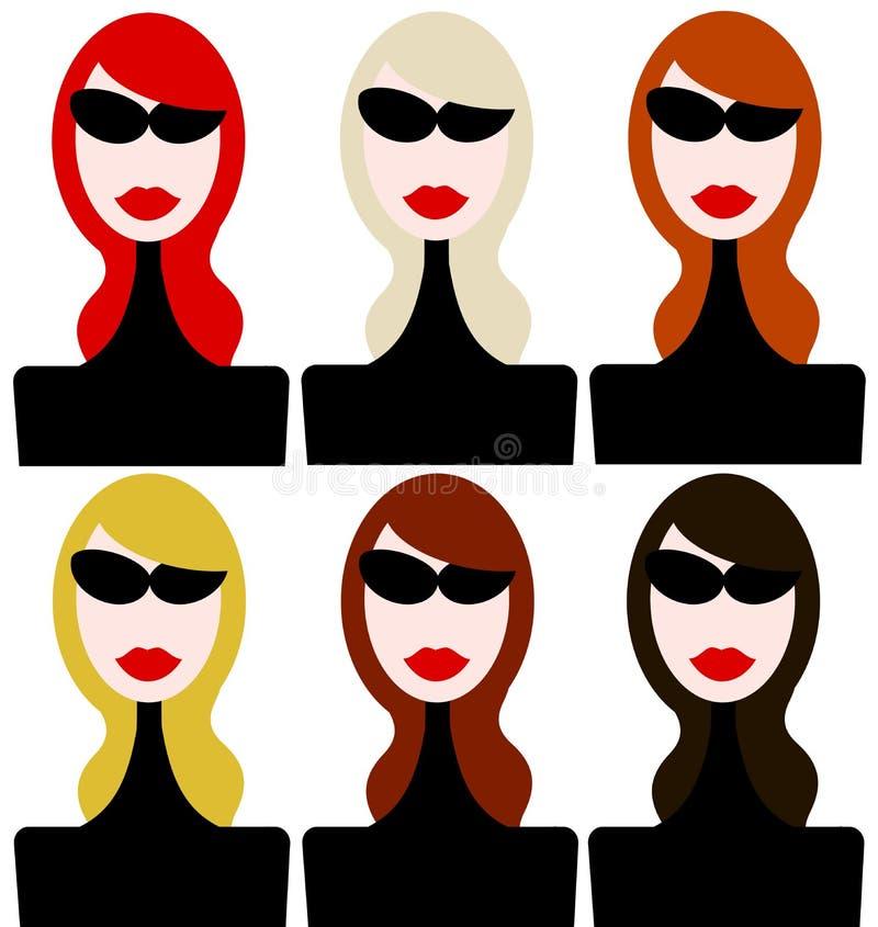 Download Frisur stock abbildung. Illustration von glamor, mädchen - 47101176