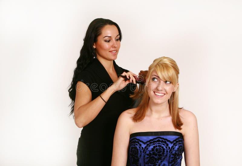 Frisur stockfotografie