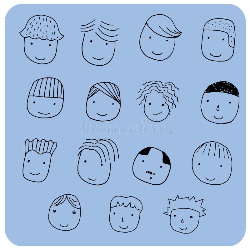 Frisur für Karikaturgesicht lizenzfreie stockfotografie