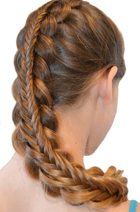 Frisur mit dem langen Haar stockfotos