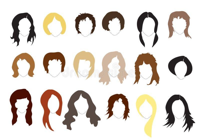 Frisuren lizenzfreie abbildung