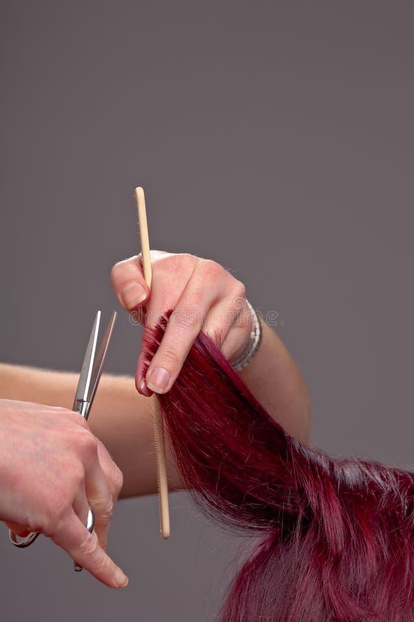Frisurenhände stockbilder