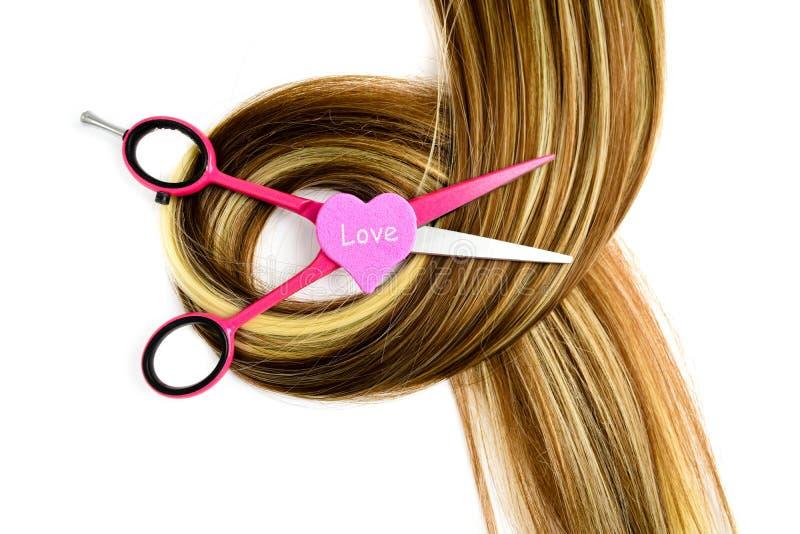 Frisurnscheren lieben für den Beruffriseur lizenzfreies stockbild