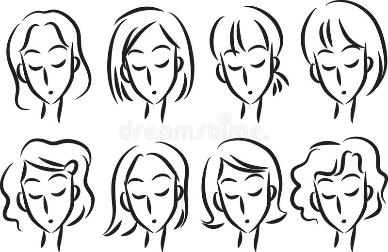 frisyr stock illustrationer