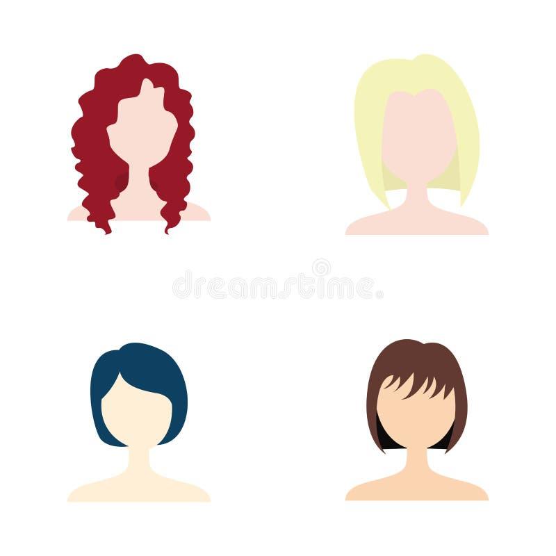 frisyr royaltyfri illustrationer