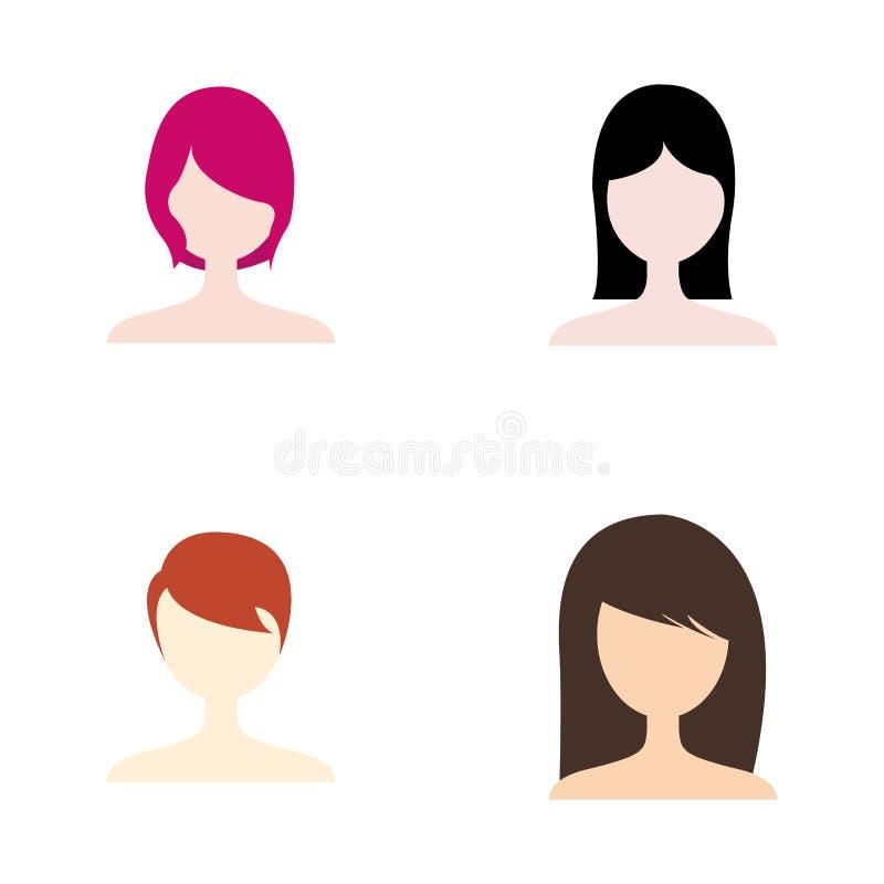 frisyr vektor illustrationer