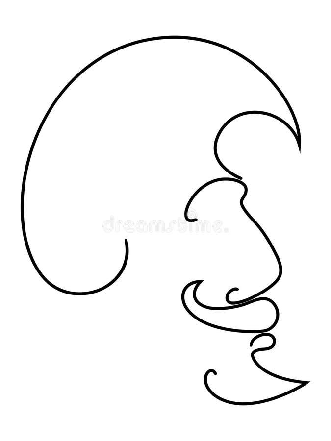 Frisyr för en man: hår, skägg och mustasch Symbol för att ändra stilen av frisyren royaltyfri illustrationer