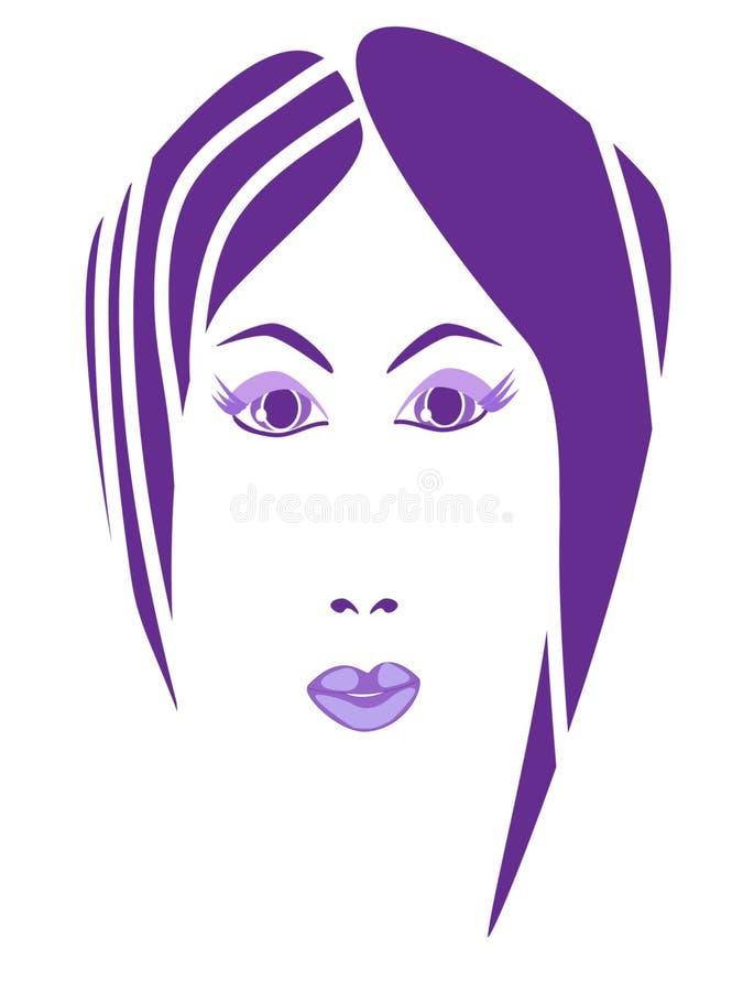 Frisyr- och makeupskönhetemblem vektor illustrationer