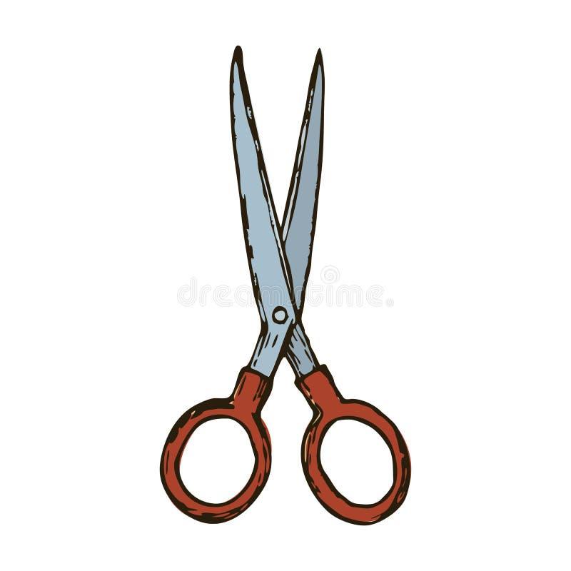 Frisyr scissors illustrationen royaltyfri illustrationer
