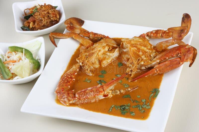 Fritada del cangrejo de Goan de la India fotografía de archivo