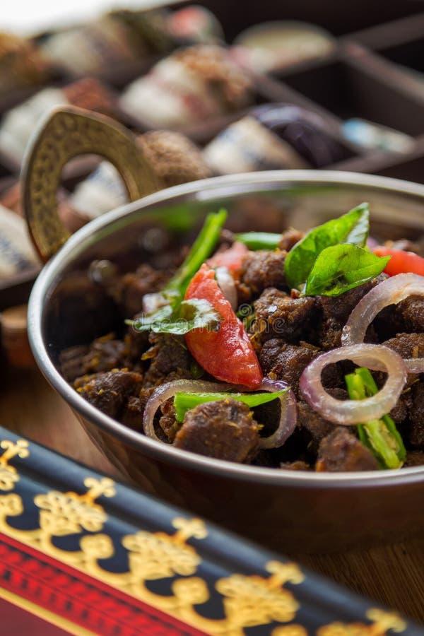 Fritada indiana da carne imagem de stock royalty free