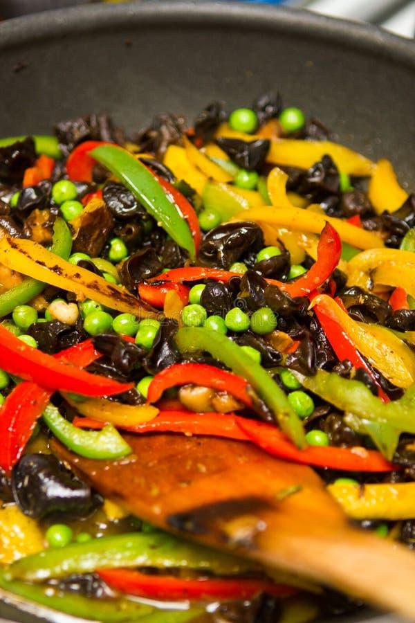 Fritada vegetal del stir foto de archivo