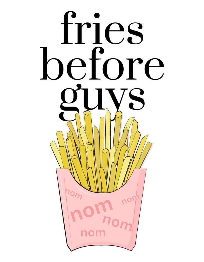 Fritadas antes del cartel adolescente de la cultura de los individuos cita del café Texto femenino moderno Paquete del bocado de  stock de ilustración