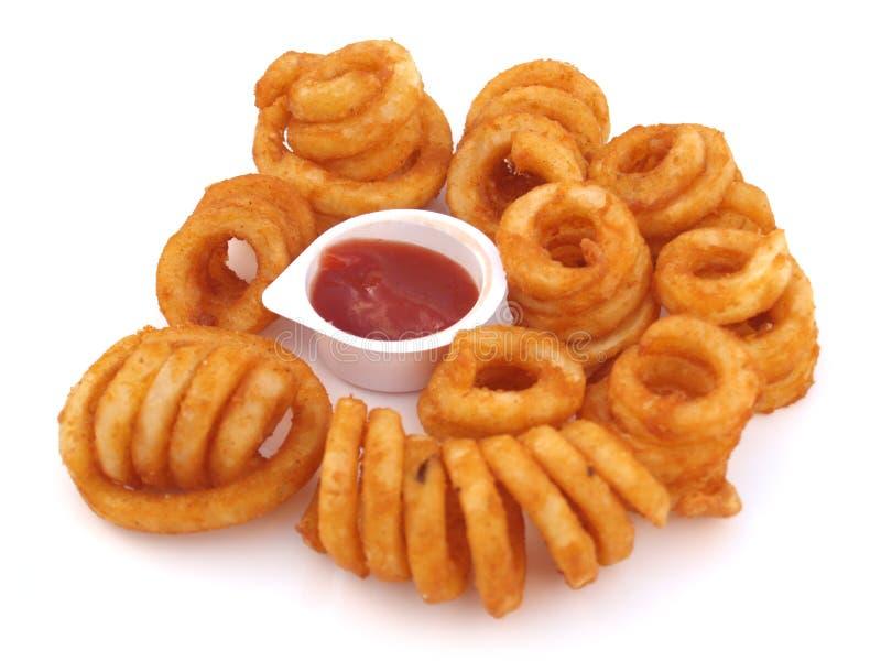 Fritadas Curly imagens de stock