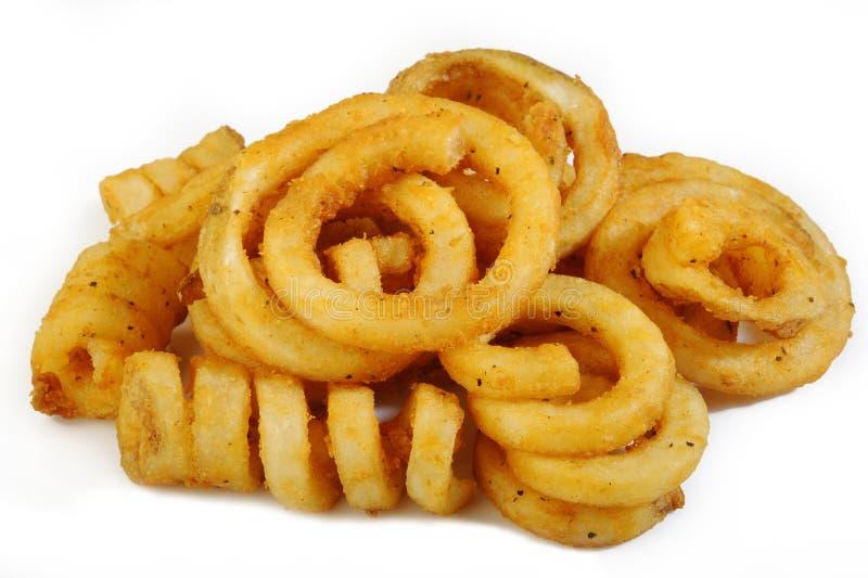 Fritadas Curly imagem de stock royalty free