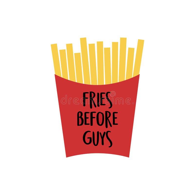 Fritadas de Fench, fritadas antes dos indivíduos ilustração royalty free