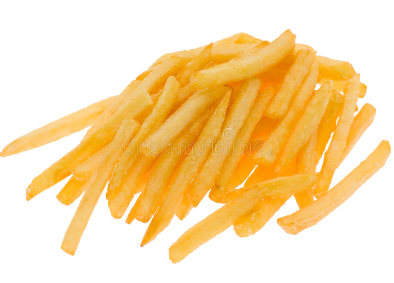Fritadas de la patata, aisladas fotografía de archivo