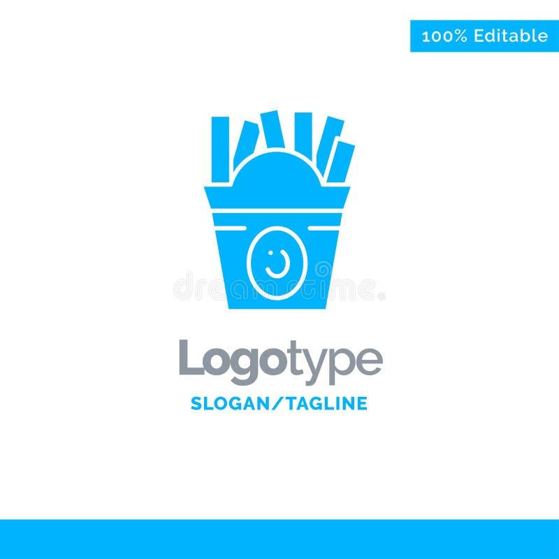 Fritadas, fast food, alimento, EUA Logo Template contínuo azul Lugar para o Tagline ilustração stock