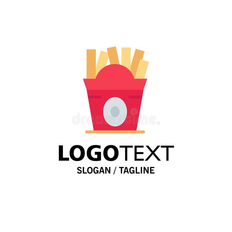 Fritadas, fast food, alimento, negócio Logo Template dos EUA cor lisa ilustração stock
