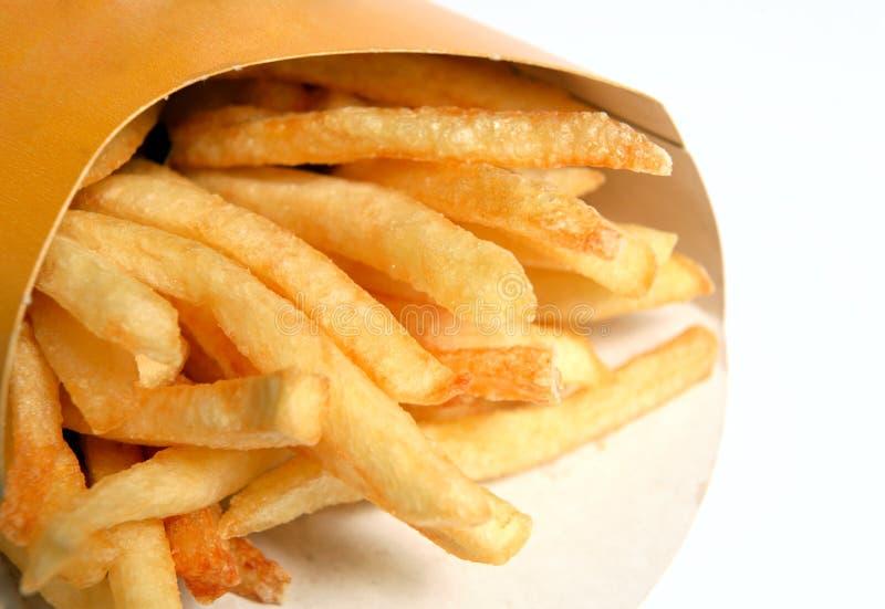 Fritadas ou microplaquetas do francês do fast food imagem de stock