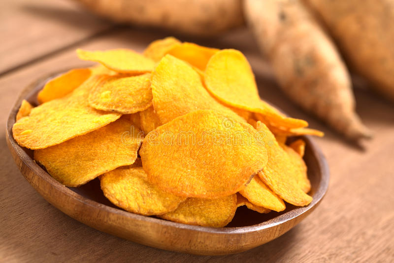 Frites de patate douce photo stock