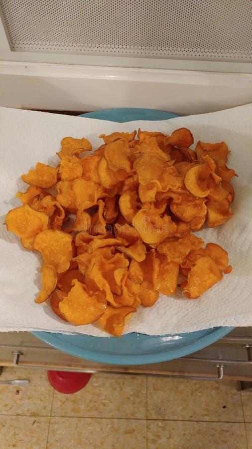 Frites de patate douce photographie stock