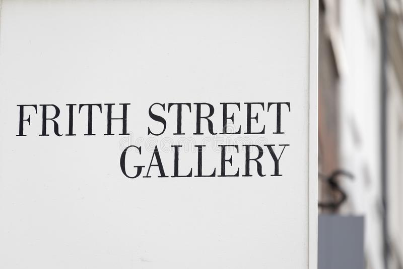 Frith gatagalleri, Soho - London arkivfoto