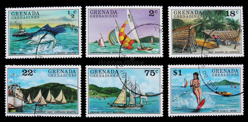 Fritidaktiviteter i karibiska öar royaltyfria bilder
