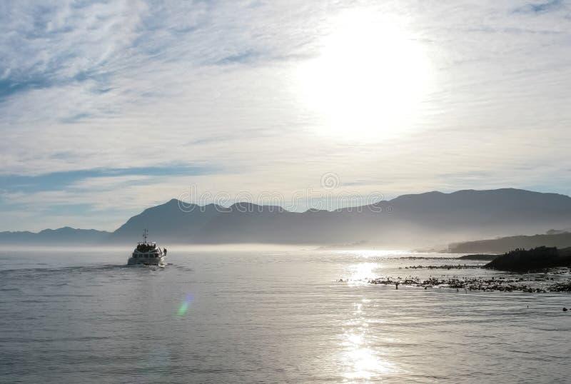 Fritidfiskebåt som tar turister ou royaltyfri bild