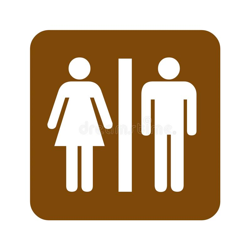 Fritids- tecken för bruna toaletter vektor illustrationer