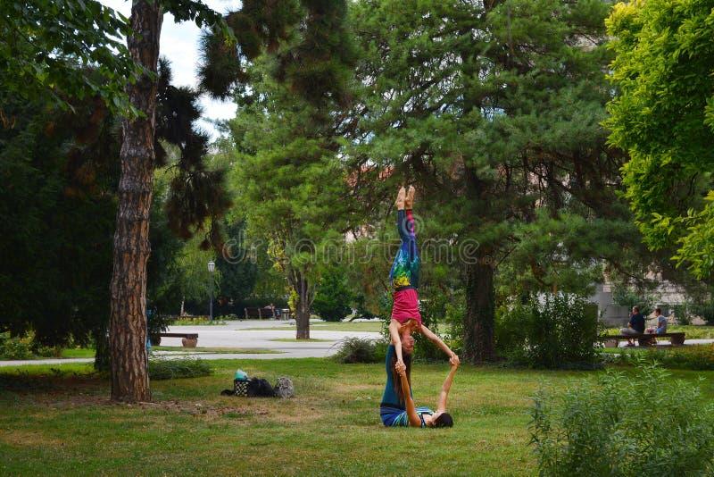 Fritidsaktivitet i Zagreb parkerar Zrinjevac fotografering för bildbyråer