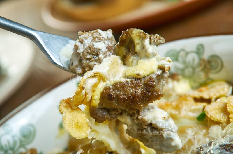 Frito Taco Casserole. Chill Cheese  Frito Taco Casserole, Mexican food royalty free stock image