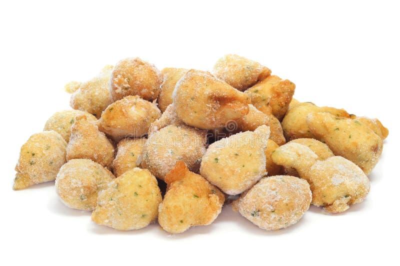 Fritos congelados do bacalhau fotos de stock royalty free