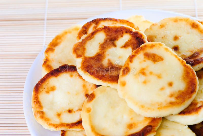 Fritos do queijo de casa de campo foto de stock