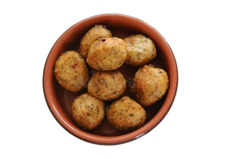 Fritos portugueses do bacalhau fotos de stock royalty free