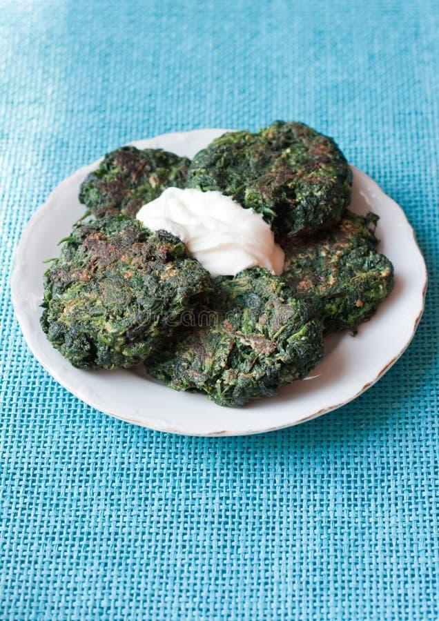 Fritos verdes imagem de stock