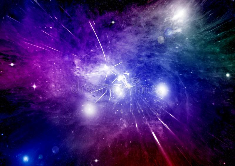 fritt galaxavstånd stock illustrationer