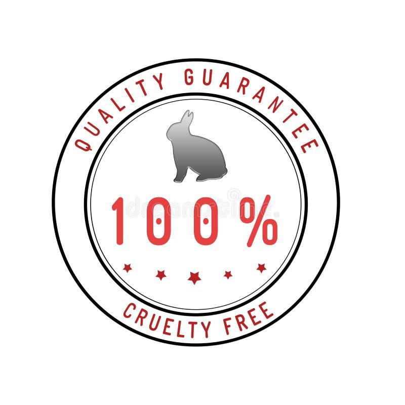 Fritt garantiemblem för grymhet som isoleras på vit royaltyfri illustrationer