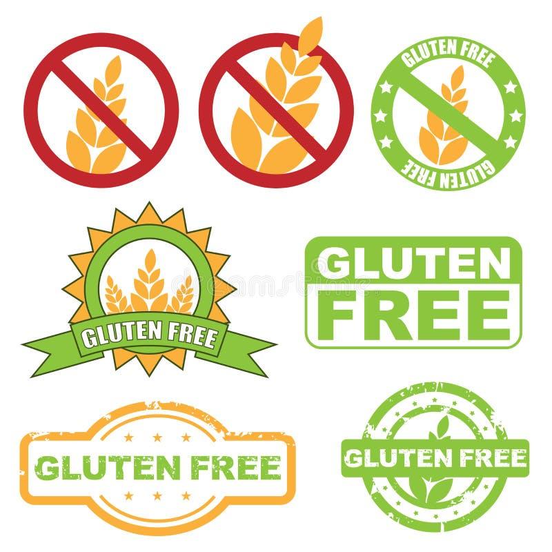 fritt glutensymbol royaltyfri illustrationer