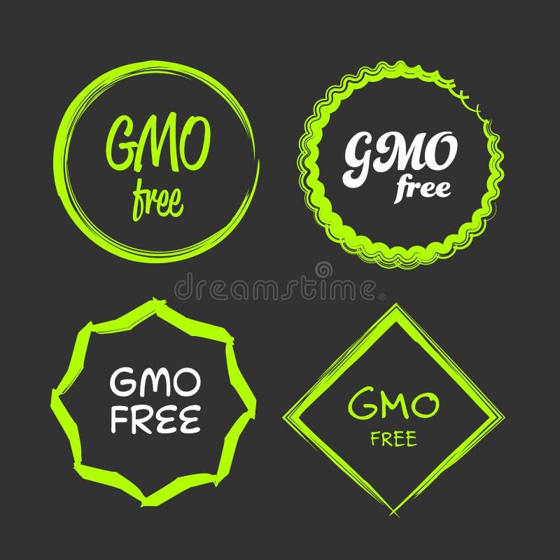 fritt gmo-tecken stock illustrationer