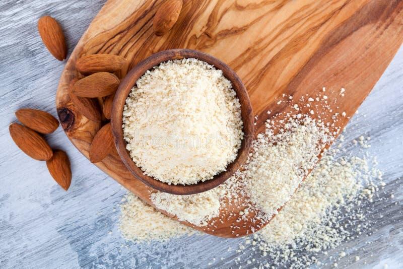 Fritt mandelmjöl för gluten royaltyfria foton