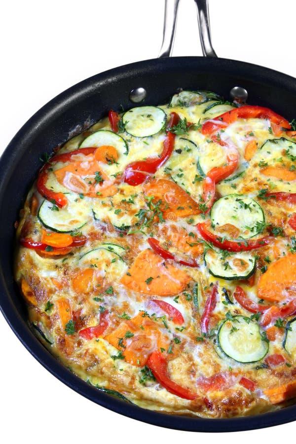 frittata που τηγανίζει το παν λαχανικό στοκ φωτογραφία με δικαίωμα ελεύθερης χρήσης