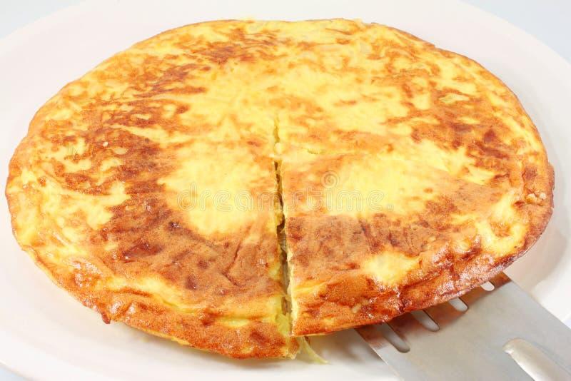 Frittata z cebulą, omlet fotografia stock