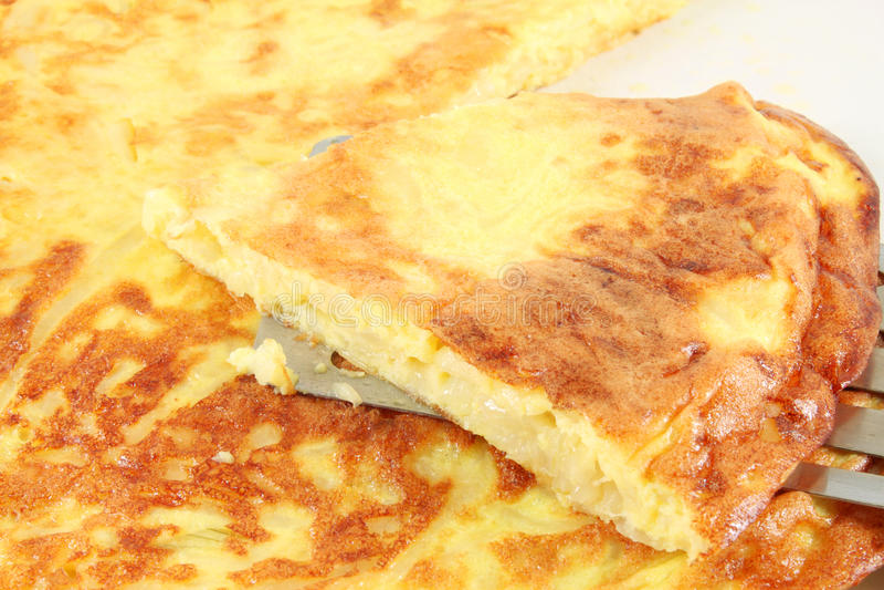 Frittata z cebulą, omlet obrazy royalty free