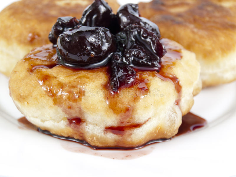 Download Fritters and jam stock image. Image of sweet, little - 29387649
