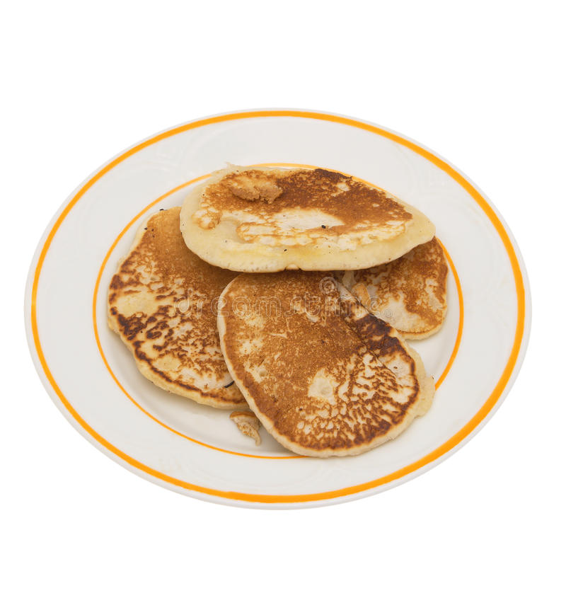 Fritters pancake. royalty free stock images